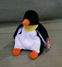 Ty Beanie Baby Waddle the Penguin w/Errors  1995 Style 4075  PVC  MWMT RETIRED
