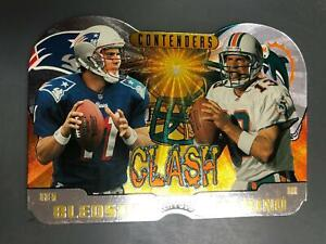Dan Marino/Drew Bledsoe 1997 Playoff Contenders Clash #6 $30 Dolphins A19