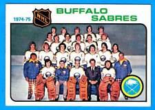 1975-76 Topps BUFFALO SABRES Team Card (ex)