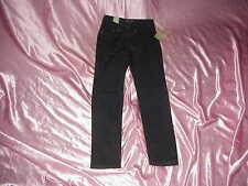 NWT $69 SEVEN 7 Black Premim Blue Label Stretch Straight Jeans Waist 26/28 30.5I