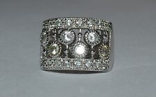 SIGNED RG STERLING SILVER AND CZ BAND RING SIZE 6