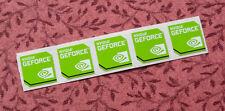 Lot of 5 Nvidia GeForce Stickers 20 x 20mm Desktop Case Badges New Version