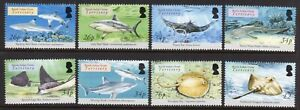 British Indian Ocean Terr. 2005 Sharks and Rays set fine fresh MNH