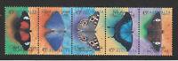 Australia 1998 : Butterflies ,Se-tenant strip of 5 x 45c Decimal Stamps, MNH