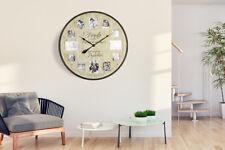 Walplus Family Photo Frame Timber Wall Clock 70cm living room home decorations