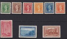 Canada - 1937/38 l'EGVF ensemble à 20c menthe sg.357-365 (ref.d189)