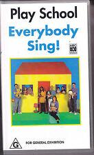 PAL VHS VIDEO TAPE :  PLAYSCHOOL: EVERYBODY SING!