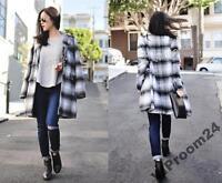 ZARA Grey Marl Checked Gorgeous Soft Coat BLOGGERS size M L