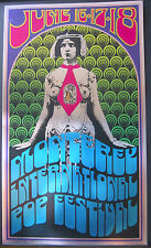 Monterey Pop Festival Foil Poster AUTOGRAPHED 1967/1992 reprint Tom Wilkes RARE
