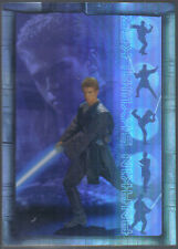 STAR WARS ATTACK OF THE CLONES PRISMATIC FOIL CARD 1