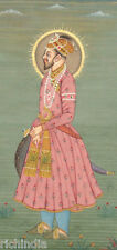 moghul mughal emperor shah jahan Traditional Painting ART Antique Muslim King