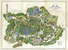 Magic Mountain Map 1971 POSTER 24 X 36 Inches Beautiful  Nostalgia Disneyland