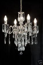 4 flammes Lustre avec véritable cristal au plomb, disponible en or sans Inox