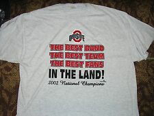 The OHIO STATE BUCKEYES SHIRT BEST MARCHING BAND OSU 2002 NATIONAL CHAMPS 2XL