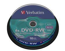 Verbatim 43552 10 TUB DVD-RW Blank Re-Writable Discs