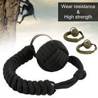 1Pcs Monkey Fist Keychain Paracord Self Defense Military Steel Ball New US
