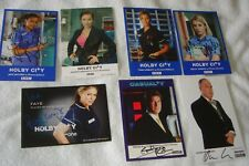 """""""Holby City"""" """"Casualty"""" bargain bunch of 7 signed promotional photos"""