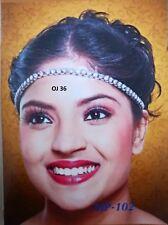 Indian Bollywood Head Jewelry CZ Fashion Matha Patti Head Band Passa Sets OJ 36