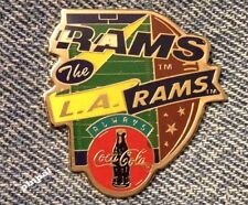 Los Angeles Rams Pin~NFL~Football~1994 vintage~Coca Cola Coke~New Old Stock