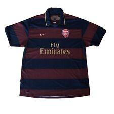 Football shirt soccer Arsenal Gunners Third 2007/2008 England Nike jersey  XXL
