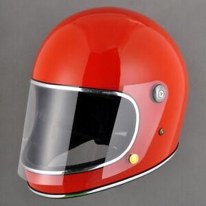 Full face motorcycle helmet big vision vintage custom bike helmet fiberglass