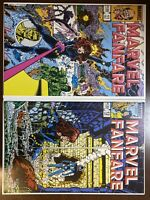 Lot of 2 - Marvel Fanfare #11 & #12 - 1st App Iron Maiden (Marvel; 1983)