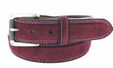 """SUEDE LEATHER BELT FULLERTON 1 3/8"""" 35MM WIDE CASUAL GOLF JEAN DRESS NWT NEW"""