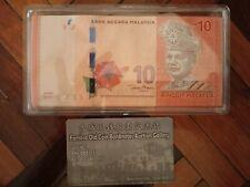 Malaysia 12th series Zeti signature RM10 replacement bundle (100 pcs running)