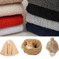 Thicken Sherpa Fleece Faux Lambwool Fabric Berber Fur Sewing Craft Cloth New