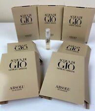 7 ACQUA DI GIO Giorgio Armani ABSOLU Men's Cologne Toilette SAMPLE Sprays .04oz