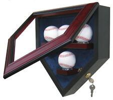 Custom Wood UV Vidrio 4 cuatro béisbol Homeplate en forma de Béisbol Vitrina
