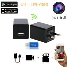 WIFI Spy Camera Spia Caricatore Micro HD Telecamera Nascosta Microcamera Audio