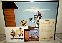 Hanna Barbera Signed Cel Quick Draw McGraw Shooting Room Only Animation Art Cell