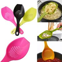 1Pc Soup Cooking Shovels Scoop Strainer Colander Pasta Filter Spoon Kitchen Tool