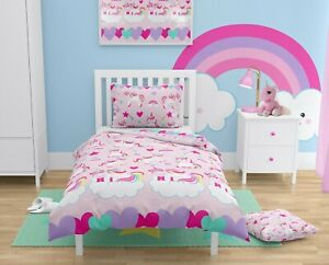 PINK UNICORNS Girls Bedding Set for Cot/Cot bed Baby & Toddler 100% COTTON