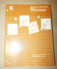 Cummins Operation and Maintenance QUANTUM System K19 Engines Manual 3666120-01