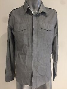 RUSTY Medium Grey Long Sleeve Shirt Regular Joe Fit Classic Unworn Condition