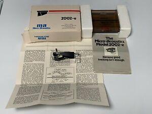 Micro Acoustics Corp. 2002-E Stereo Phono Cartridge  W/original box & papers