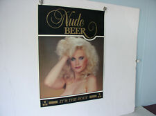 1980's Nude Beer Poster 24 X 17 new old stock