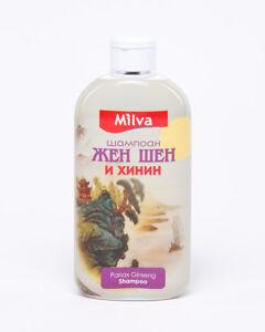 Milva Shampoo with Ginseng and Quinine 200ml Stops Hair Loss