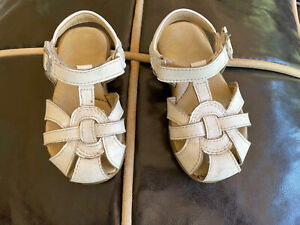 Stride Rite Summer Time White Girls Sandals Shoes Size 6.5XW