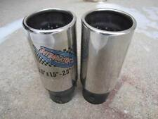 "2 Universal APC Muffler End Tip Tips Stainless Steel Exhaust 3.5"" x 1.5"" - 2.5"""