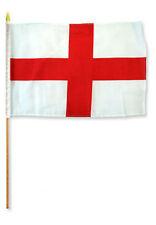 "12x18 12""x18"" England St. George's Cross Stick Flag wood staff"