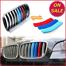 3 M Color Front Grill Bar Cover Decal Strips Clips for BMW X6 E72 Year 2012-2014