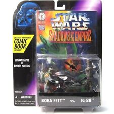 STAR WARS SHADOWS OF THE EMPIRE  BOBA FETT & IG-88 PACK FIGURES  WITH COMIC BOOK