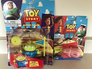 Toy Story Hamm Bank & Alien Action Figures Think Way Disney New On Card