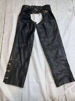 Silver Bike Leather Chaps S
