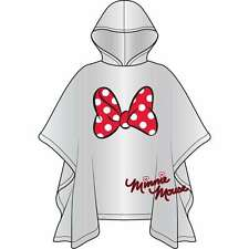 DISNEY Minnie Mouse Red Bow Clear Hooded Rain Poncho -YOUTH