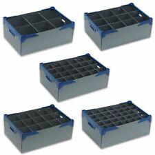 Glassware Storage Boxes Containers Crates - Silver - Various Sizes - Glassjacks