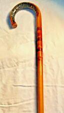 Antique Handmade Bamboo Walking Stick Cane Live Edge Carved Design 38.5�